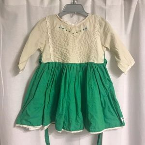 Well Dressed Wolf Little Den Dress in Green, Sz 3T